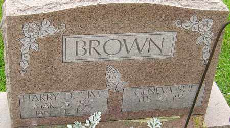 BROWN, HARRY D - Franklin County, Ohio | HARRY D BROWN - Ohio Gravestone Photos
