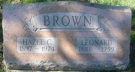 BROWN, HAZEL C - Franklin County, Ohio | HAZEL C BROWN - Ohio Gravestone Photos