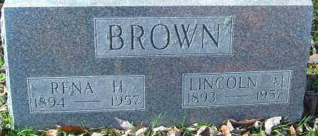 BROWN, LINCOLN MILLER - Franklin County, Ohio | LINCOLN MILLER BROWN - Ohio Gravestone Photos