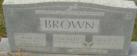 BROWN, MARK M - Franklin County, Ohio | MARK M BROWN - Ohio Gravestone Photos