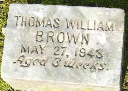 BROWN, THOMAS WILLIAM - Franklin County, Ohio   THOMAS WILLIAM BROWN - Ohio Gravestone Photos