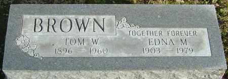 BROWN, TOM W - Franklin County, Ohio | TOM W BROWN - Ohio Gravestone Photos