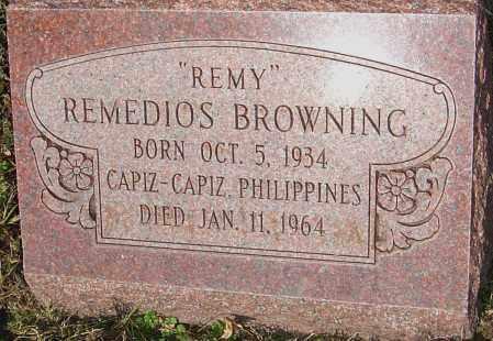 BROWNING, REMEDIOS - Franklin County, Ohio   REMEDIOS BROWNING - Ohio Gravestone Photos