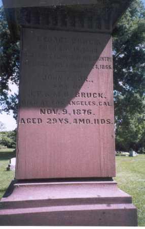 BRUCK, GEORGE - Franklin County, Ohio | GEORGE BRUCK - Ohio Gravestone Photos