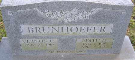 BRUNHOEFFER, EDITH - Franklin County, Ohio | EDITH BRUNHOEFFER - Ohio Gravestone Photos