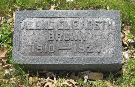 BRUNN, ALENE ELIZABETH - Franklin County, Ohio | ALENE ELIZABETH BRUNN - Ohio Gravestone Photos