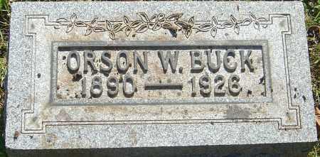 BUCK, ORSON WAYNE - Franklin County, Ohio | ORSON WAYNE BUCK - Ohio Gravestone Photos