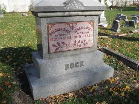 BUCK, SARAH J - Franklin County, Ohio | SARAH J BUCK - Ohio Gravestone Photos