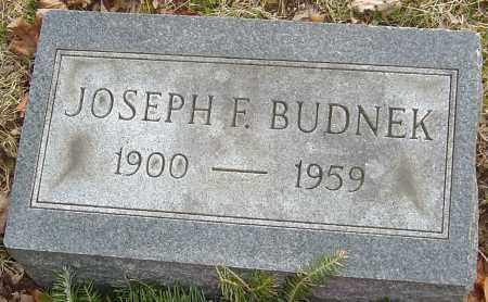 BUDNEK, JOSEPH F - Franklin County, Ohio | JOSEPH F BUDNEK - Ohio Gravestone Photos