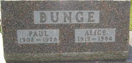 BUNGE, ALICE - Franklin County, Ohio | ALICE BUNGE - Ohio Gravestone Photos