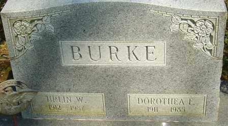 BURKE, DOROTHEA E - Franklin County, Ohio   DOROTHEA E BURKE - Ohio Gravestone Photos