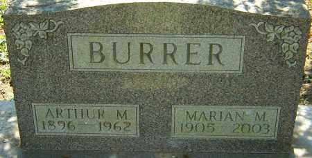 BURRER, ARTHUR M - Franklin County, Ohio   ARTHUR M BURRER - Ohio Gravestone Photos