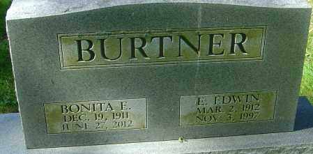 BURTNER, E EDWIN - Franklin County, Ohio | E EDWIN BURTNER - Ohio Gravestone Photos