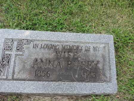 BUSBY, ANNA - Franklin County, Ohio | ANNA BUSBY - Ohio Gravestone Photos