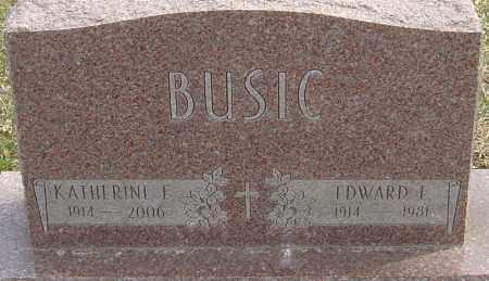 BUSIC, EDWARD E - Franklin County, Ohio | EDWARD E BUSIC - Ohio Gravestone Photos