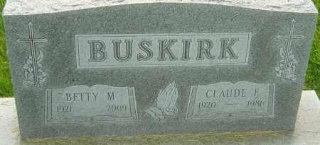 BUSKIRK, BETTY M - Franklin County, Ohio | BETTY M BUSKIRK - Ohio Gravestone Photos