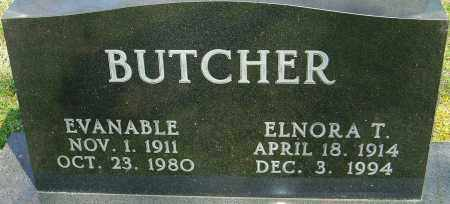 BUTCHER, EVANABLE - Franklin County, Ohio | EVANABLE BUTCHER - Ohio Gravestone Photos