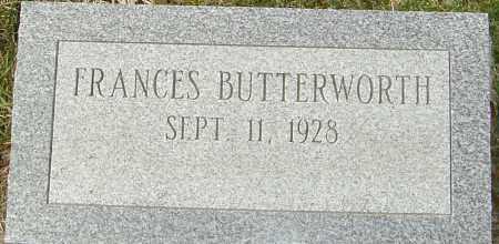 BUTTERWORTH, FRANCES - Franklin County, Ohio | FRANCES BUTTERWORTH - Ohio Gravestone Photos