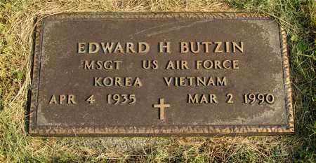 BUTZIN, EDWARD H. - Franklin County, Ohio | EDWARD H. BUTZIN - Ohio Gravestone Photos