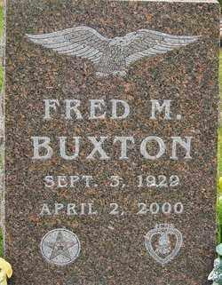 BUXTON, FRED M - Franklin County, Ohio   FRED M BUXTON - Ohio Gravestone Photos