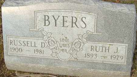 BYERS, RUSSELL - Franklin County, Ohio | RUSSELL BYERS - Ohio Gravestone Photos