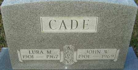 MOXLEY CADE, LURA - Franklin County, Ohio   LURA MOXLEY CADE - Ohio Gravestone Photos