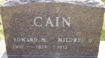 CAIN, EDWARD - Franklin County, Ohio | EDWARD CAIN - Ohio Gravestone Photos