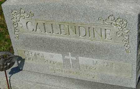 CALLENDINE, GEORGE W - Franklin County, Ohio   GEORGE W CALLENDINE - Ohio Gravestone Photos