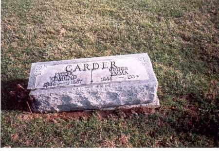 CARDER, EDMUND - Franklin County, Ohio   EDMUND CARDER - Ohio Gravestone Photos