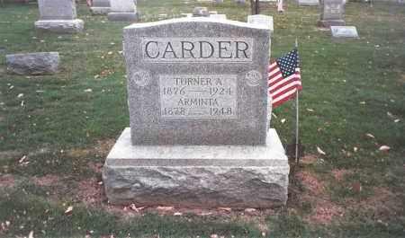 CARDER, TURNER A. - Franklin County, Ohio   TURNER A. CARDER - Ohio Gravestone Photos