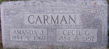 CARMAN, CECIL - Franklin County, Ohio | CECIL CARMAN - Ohio Gravestone Photos