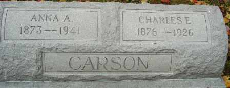 CARSON, CHARLES E - Franklin County, Ohio | CHARLES E CARSON - Ohio Gravestone Photos