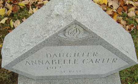 CARTER, ANNABELLE - Franklin County, Ohio | ANNABELLE CARTER - Ohio Gravestone Photos