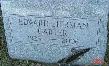 CARTER, EDWARD HERMAN - Franklin County, Ohio | EDWARD HERMAN CARTER - Ohio Gravestone Photos