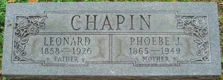 CHAPIN, PHOEBE J - Franklin County, Ohio | PHOEBE J CHAPIN - Ohio Gravestone Photos