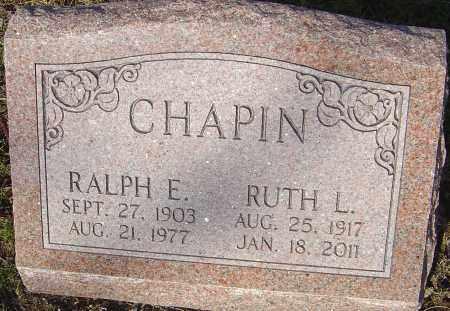 CHAPIN, RALPH - Franklin County, Ohio | RALPH CHAPIN - Ohio Gravestone Photos