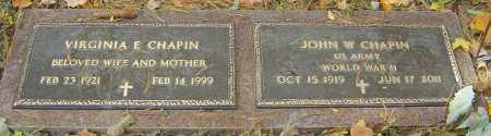 CHAPIN, JOHN W - Franklin County, Ohio | JOHN W CHAPIN - Ohio Gravestone Photos