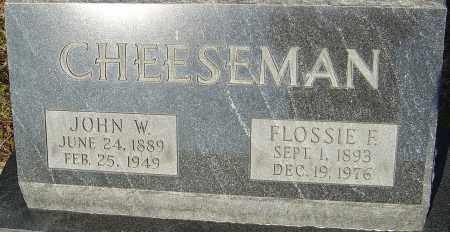 CHEESEMAN, JOHN W - Franklin County, Ohio | JOHN W CHEESEMAN - Ohio Gravestone Photos