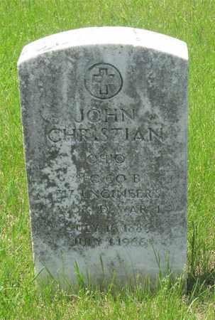 CHRISTIAN, JOHN - Franklin County, Ohio   JOHN CHRISTIAN - Ohio Gravestone Photos