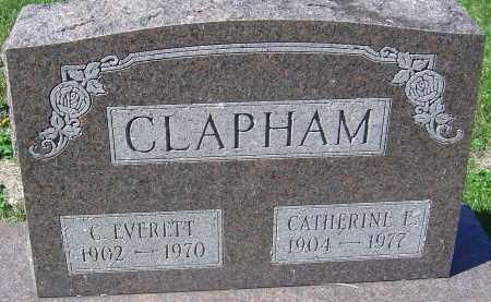 CLAPHAM, CATHERINE E - Franklin County, Ohio   CATHERINE E CLAPHAM - Ohio Gravestone Photos