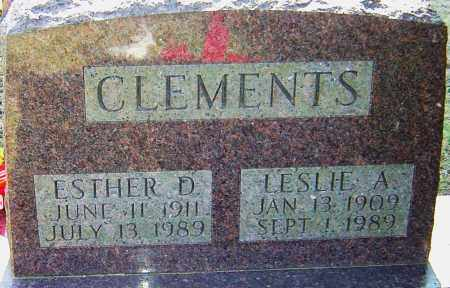 CLEMENTS, ESTHER - Franklin County, Ohio | ESTHER CLEMENTS - Ohio Gravestone Photos