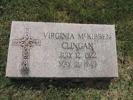 MCKIBBEN CLINGAN, VIRGINIA - Franklin County, Ohio | VIRGINIA MCKIBBEN CLINGAN - Ohio Gravestone Photos