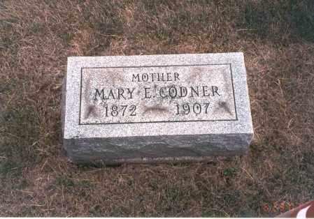 CODNER, MARY E. - Franklin County, Ohio | MARY E. CODNER - Ohio Gravestone Photos