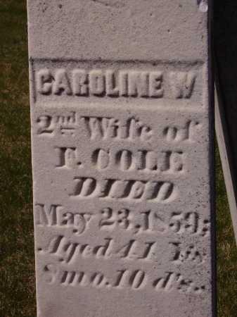 COLE, CAROLINE W. - CLOSE VIEW - Franklin County, Ohio | CAROLINE W. - CLOSE VIEW COLE - Ohio Gravestone Photos