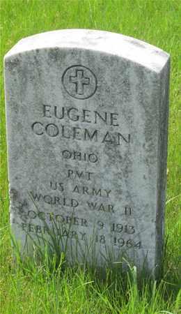 COLEMAN, EUGENE - Franklin County, Ohio   EUGENE COLEMAN - Ohio Gravestone Photos