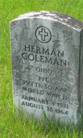 COLEMAN, HERMAN - Franklin County, Ohio | HERMAN COLEMAN - Ohio Gravestone Photos