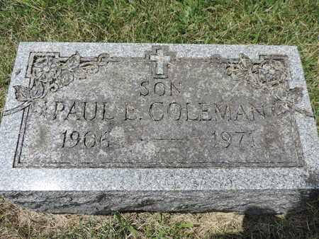 COLEMAN, PAUL E. - Franklin County, Ohio | PAUL E. COLEMAN - Ohio Gravestone Photos