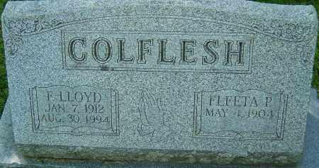 COLFLESH, F LLOYD - Franklin County, Ohio   F LLOYD COLFLESH - Ohio Gravestone Photos