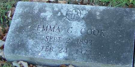 COOK, EMMA G - Franklin County, Ohio   EMMA G COOK - Ohio Gravestone Photos