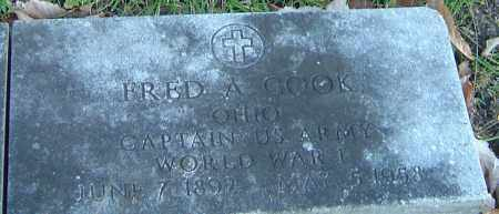 COOK, FRED ASHLEY - Franklin County, Ohio | FRED ASHLEY COOK - Ohio Gravestone Photos